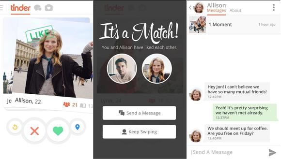 tinder interface